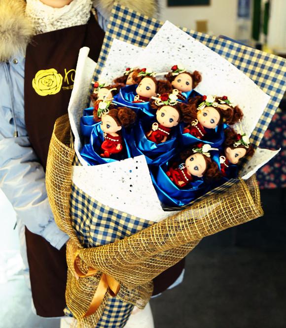 芭比娃娃玩偶 韩式花束