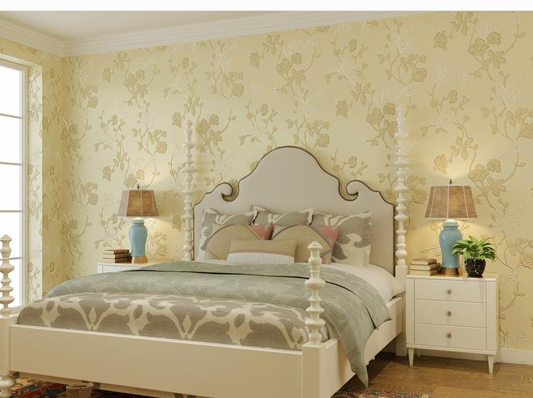 sr电视背景墙墙纸 欧式田园 立体3d无纺布壁纸 卧室客厅