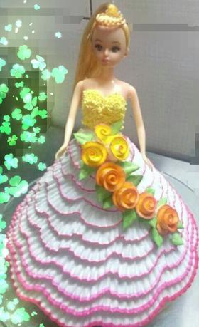 芭比娃娃蛋糕02图片