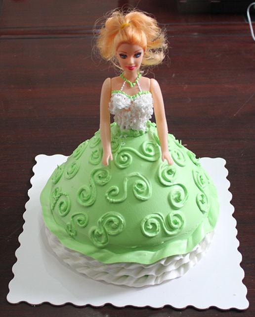 【儿童卡通蛋糕】芭比娃娃