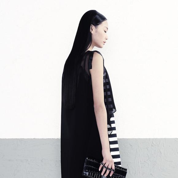 播改�-yol_播 合时尚 2014秋季新品ol风两件套圆领中腰拼接连衣裙