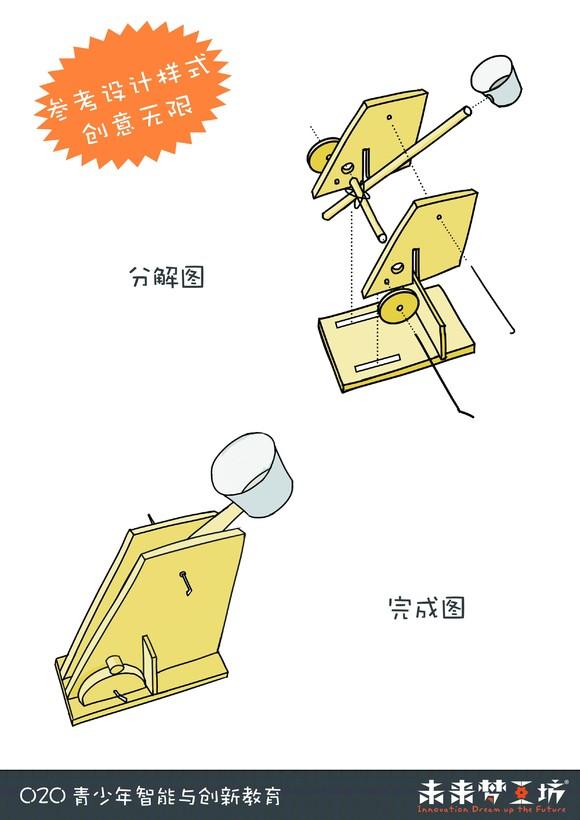 投石车小发明小制作方法_手工小制作
