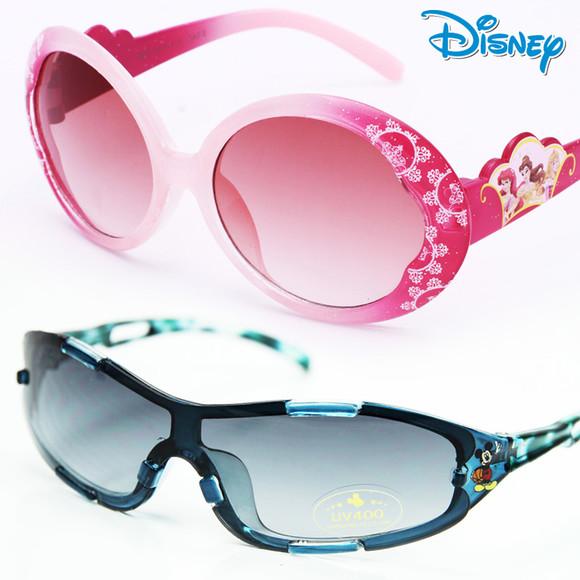 儿童太阳镜100%防紫男童 迪士尼公主墨镜女童韩国潮