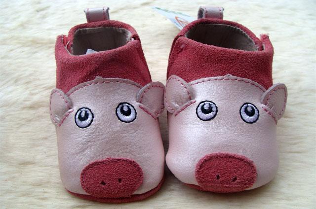外贸原单宝宝学步鞋动物鞋软底鞋0-2岁小童鞋魔术贴手工缝制鞋潮