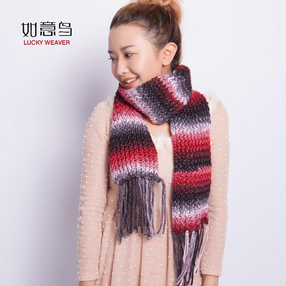 如意鸟 有氧绒围巾线粗毛线 男女棒针编织器织围巾 新品特价包邮