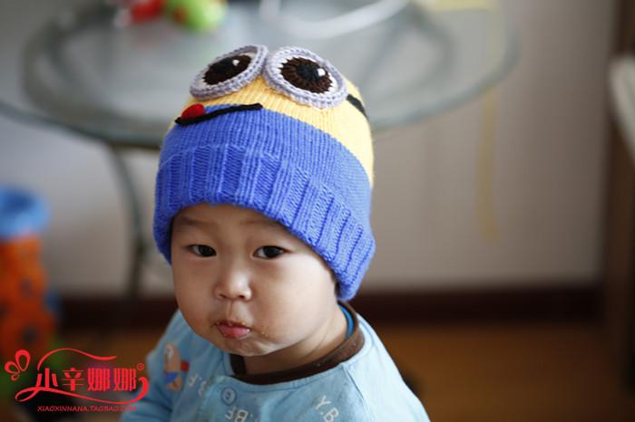 包小黄人帽子毛线编织材料包(非成品)