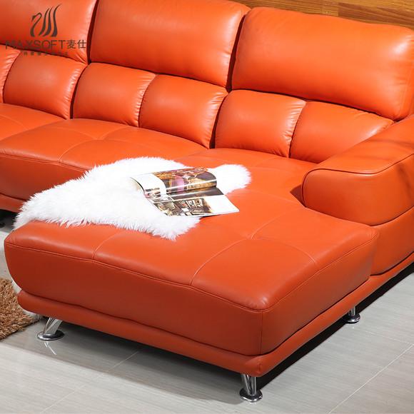 欧式休闲皮沙发客厅简单沙发组合大气休闲原创