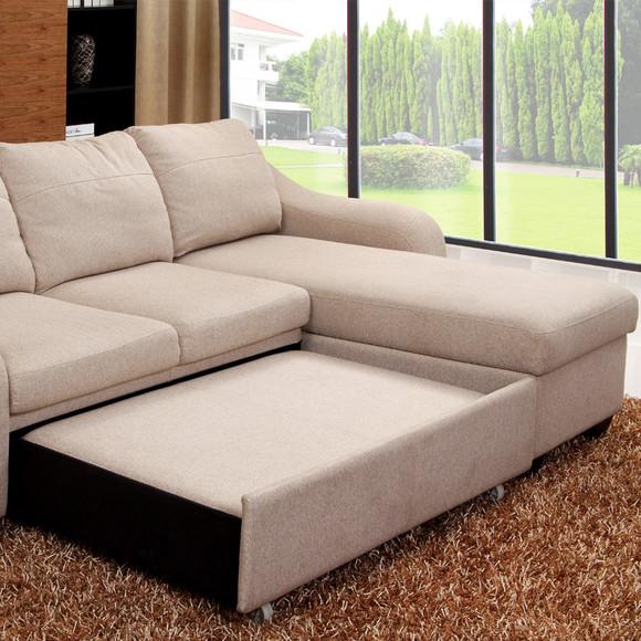 麦仕沙发 多功能沙发 储物沙发床欧式布艺沙发大户型客厅组合沙发