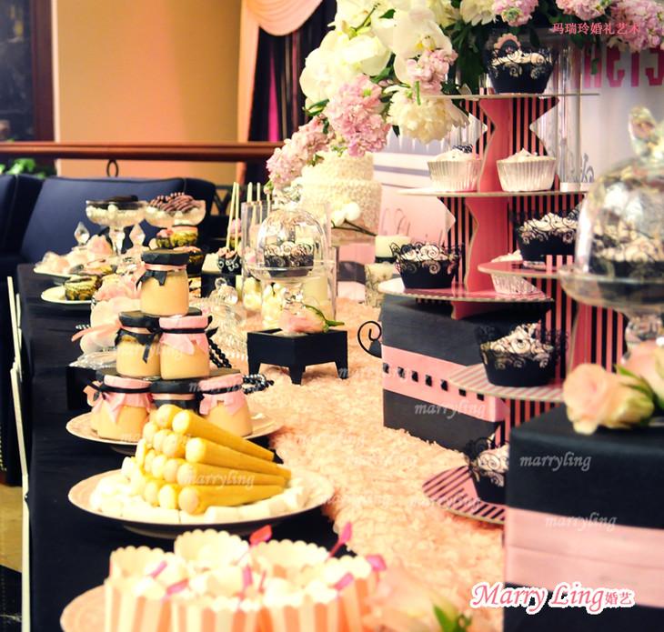 甜品桌布置/婚前茶歇