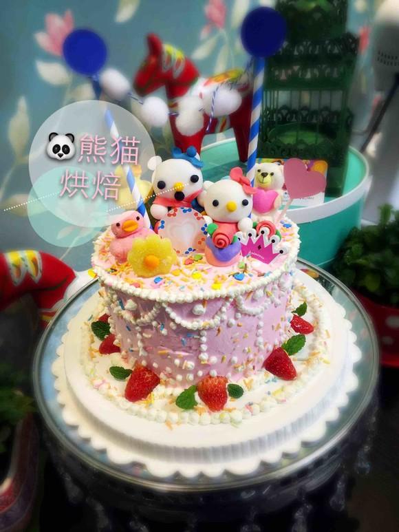 儿童生日主题翻糖奶油蛋糕 - 熊猫烘焙高级定制甜品