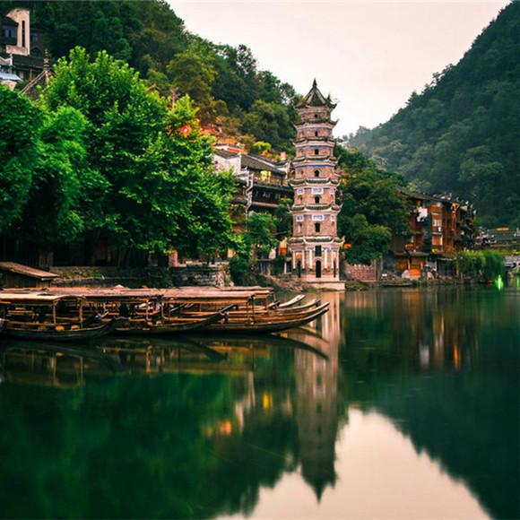 千年苗王洞,洞中石瀑,夫人澡  堂,深峡飞瀑,谷底穿行,观傩公瀑布,回头