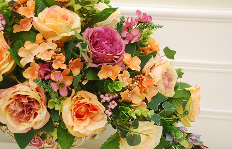 欧式仿真花套装 餐桌摆设花