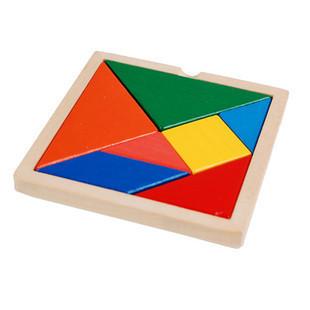 商品详情  商品说明:一种玩法是将七块几何积木片从盒中倒出,不看图纸