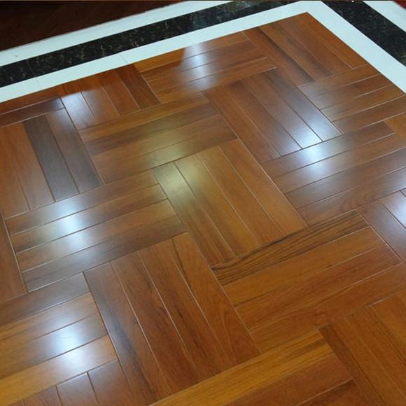 缅甸柚木人字拼多层实木复合地板