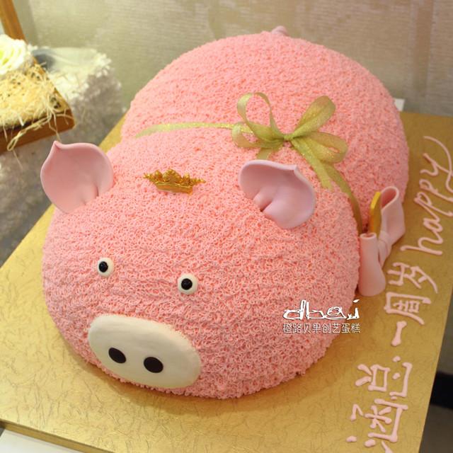 猪橡皮泥手工制作图片蛋糕