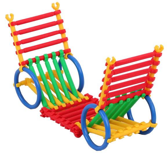京奇 聪明棒积木 儿童塑料 拼插 益智玩具 宝宝越用越