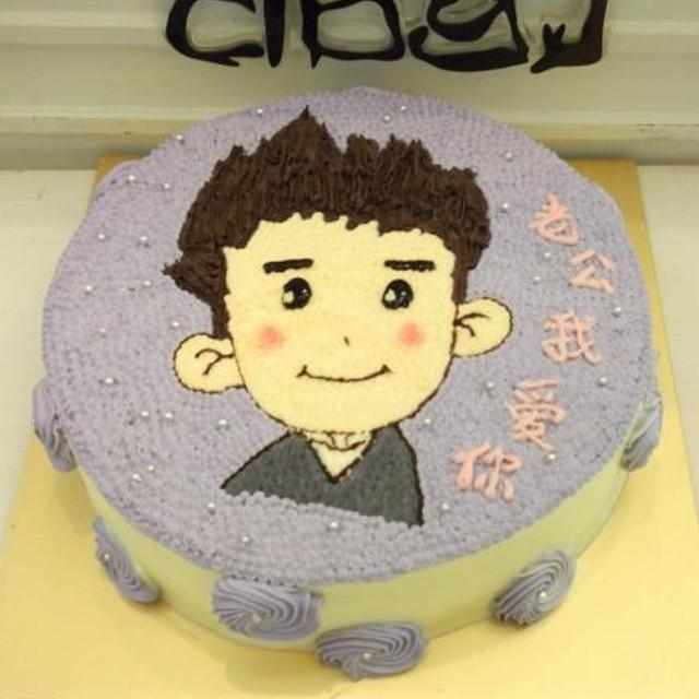 手绘蛋糕 橙路贝果创意蛋糕