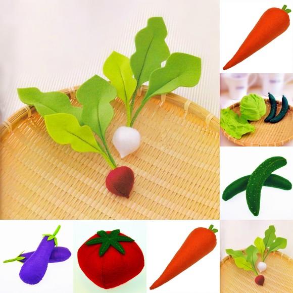 布艺茄子步骤图片