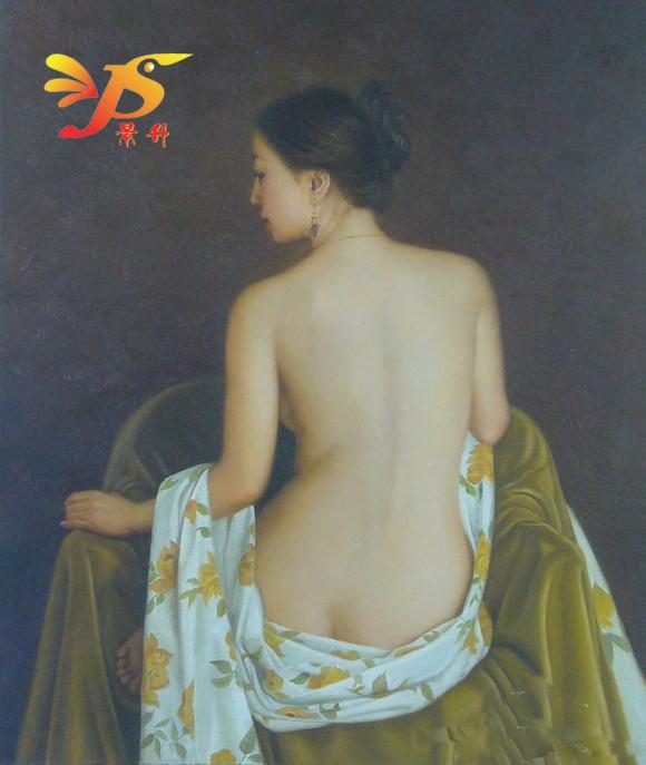 高档美女人体艺术手绘立体美女装饰画