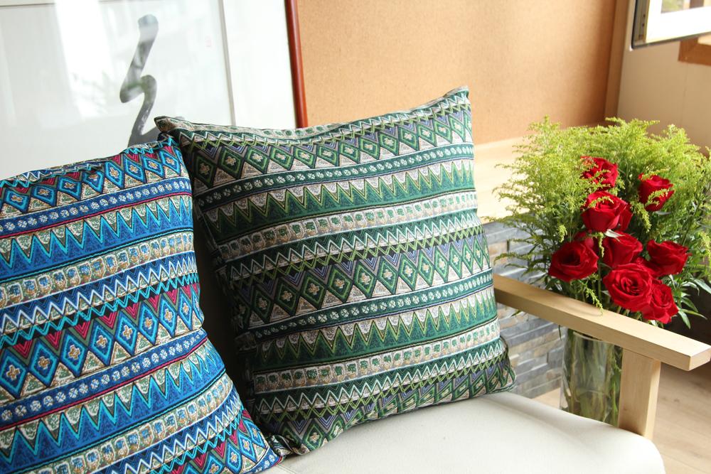 米马杂货 东南亚/波西米亚风格/出口布艺亚麻靠垫靠枕