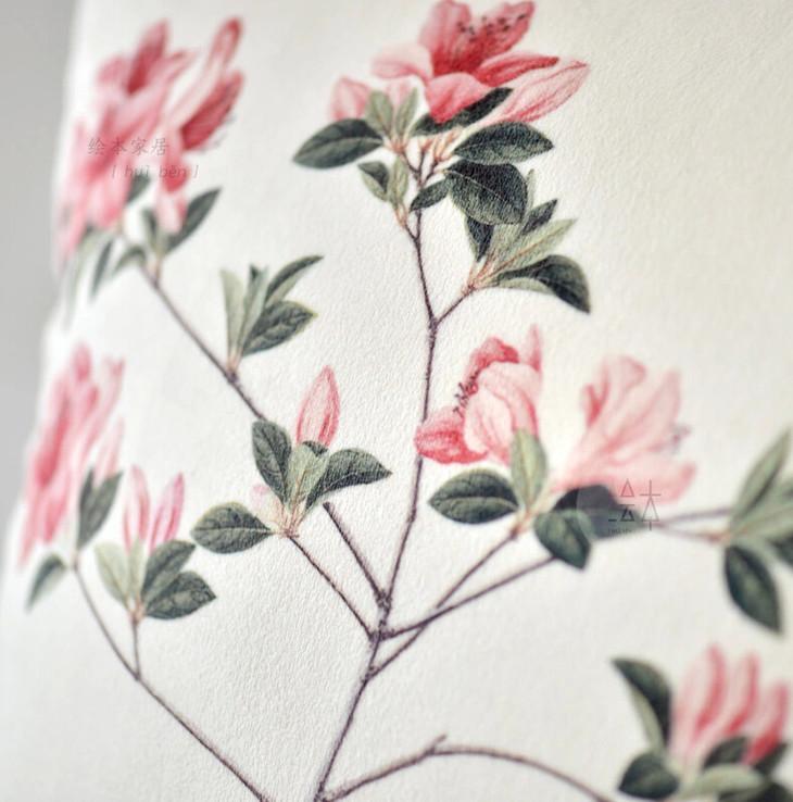 国画手绘花盆图案
