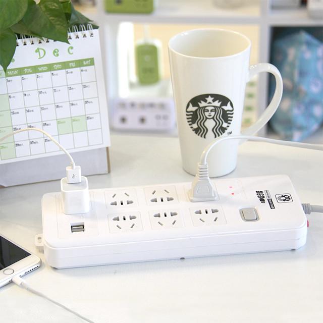 拳王插座 多功能usb智能充电插排插线板接线板拖线板网线保护