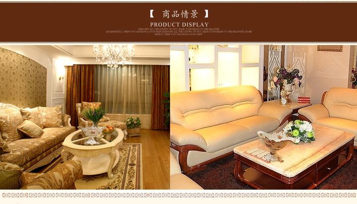 高档奢华象牙瓷果盘 欧式复古家居装饰果盆 时尚创意陶瓷大水果盘