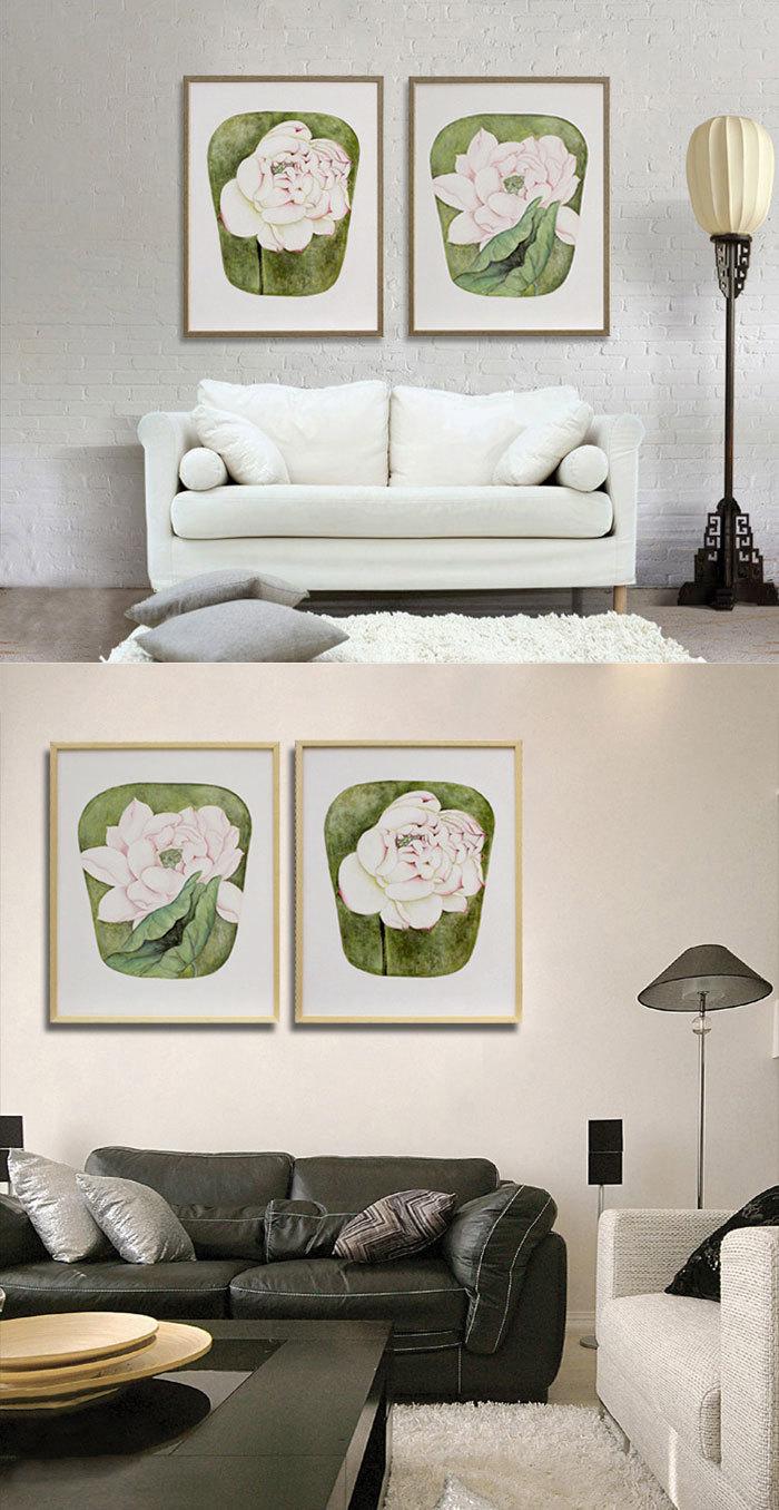 【纯手绘油画】新中式装饰挂画客厅餐厅卧室有框画