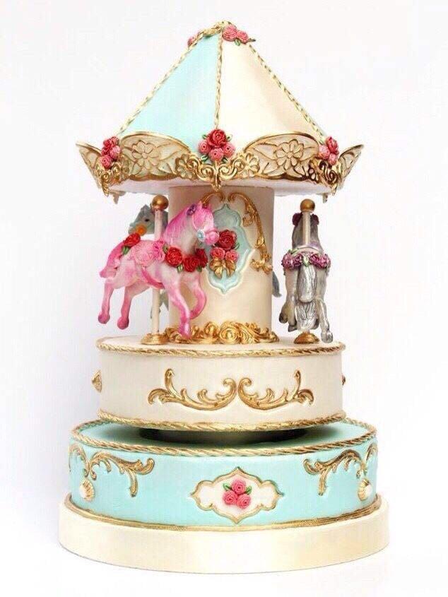 《旋转木马》翻糖艺术蛋糕制作课程