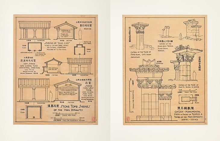 梁思成《图像中国建筑史》手绘图
