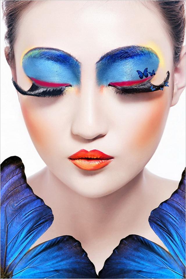 所有的颜色及线条均比平常彩妆加重10倍, 主要重点是夸张的突显主要图片