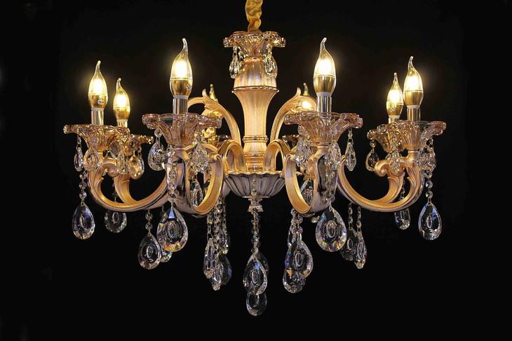 601-8 现代欧式水晶全锌合金吊灯