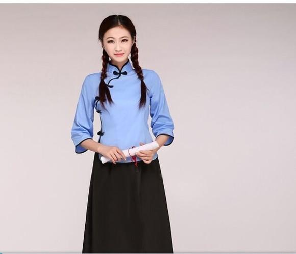 民国学生装女五四学生装