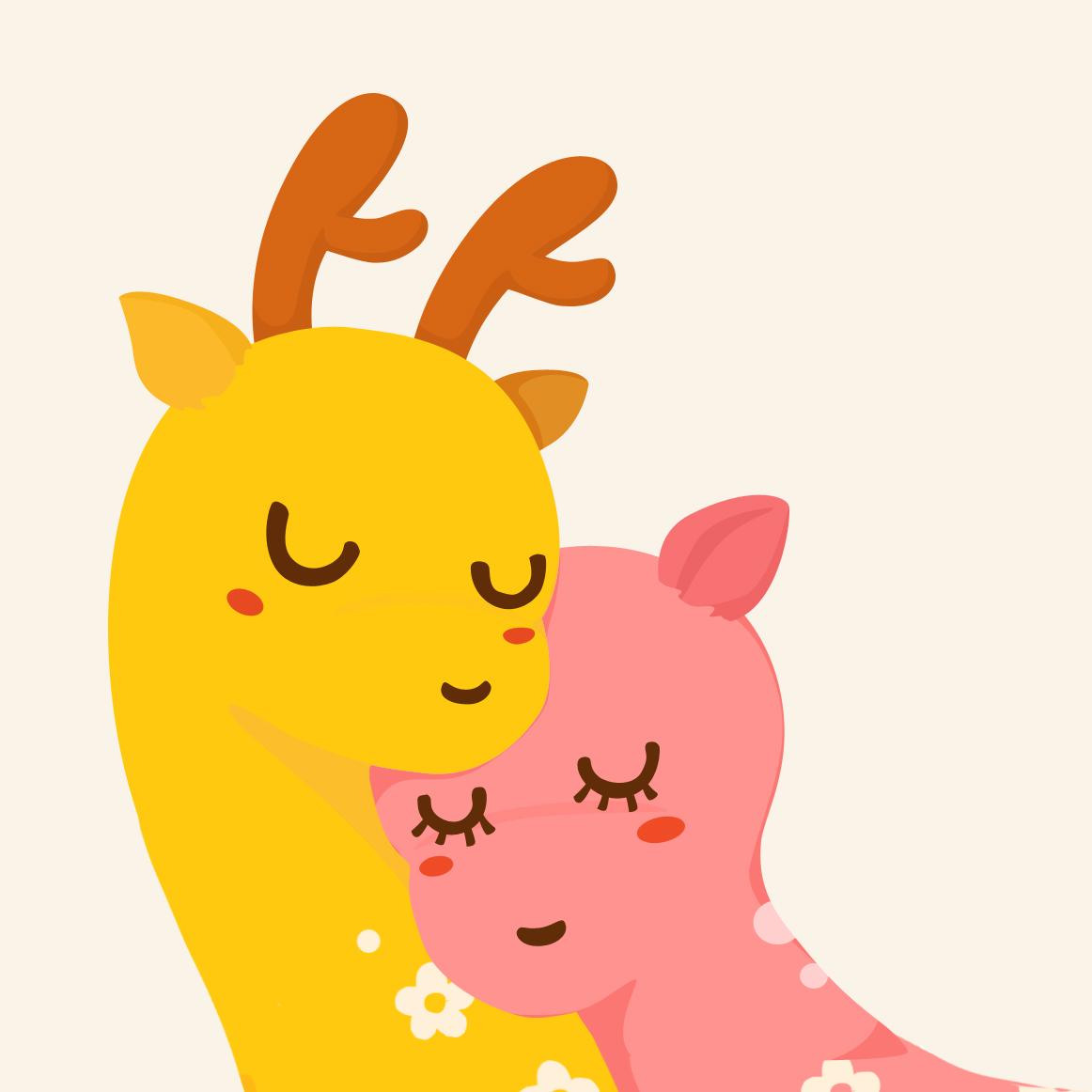 微信可爱动物头像小鹿