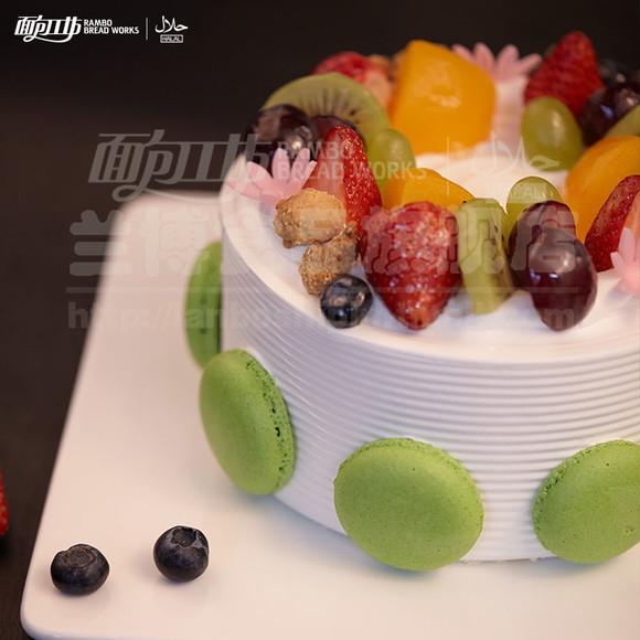 蓝莓优格 面包工坊生日蛋糕 昆明3环内免费送 清真食品 蓝莓慕斯图片