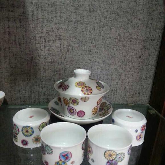 景德镇高端艺术陶瓷手绘茶具