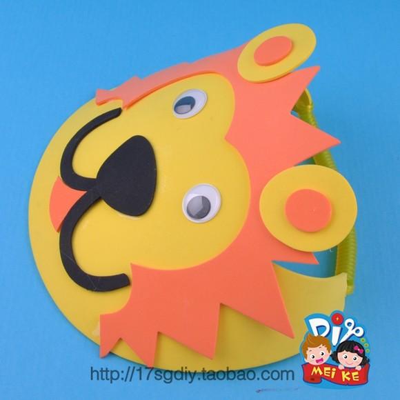 新款动物帽子幼儿园手工diy儿童节日装扮道具母亲节