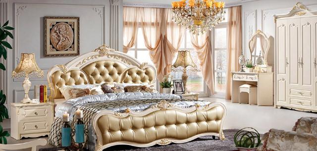da688 欧式风格 简约时尚 卧室家具套装 (1.8米玫瑰床