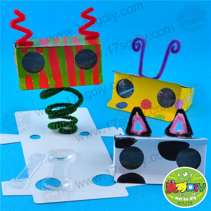 自制望远镜幼儿园儿童手工diy材料批发美可diy创意中