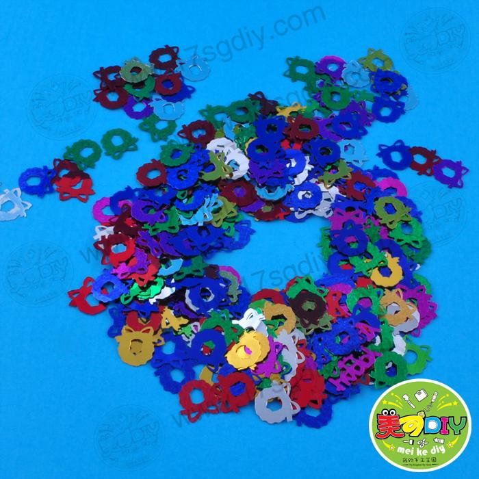 花环珠片亮片母亲节幼儿园手工材料创意玩具制作美可
