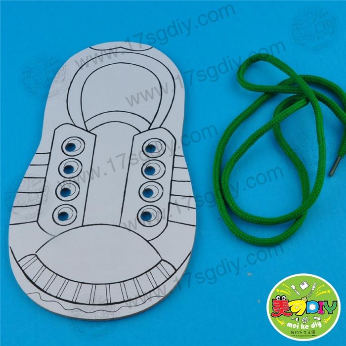幼儿园系鞋带的方法图解