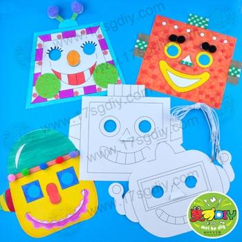 幼儿手工面具制作步骤