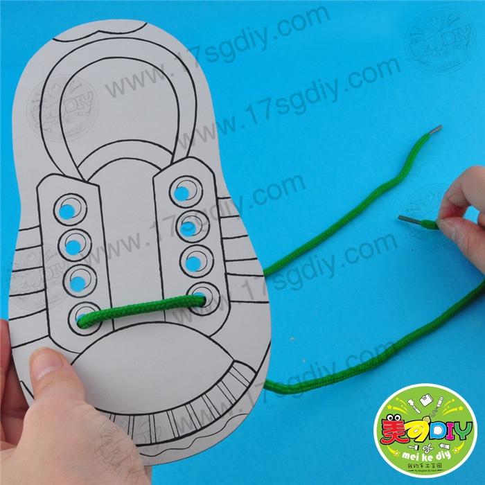 穿教具穿鞋板(鞋带装)教程益智玩手工幼儿园单个雅佳电5000吹管图片