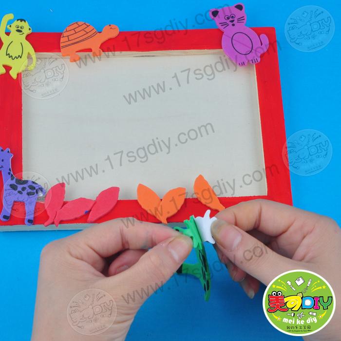 白坯木相框幼儿园儿童手工diy材料批发美可diy创意手工材料热卖