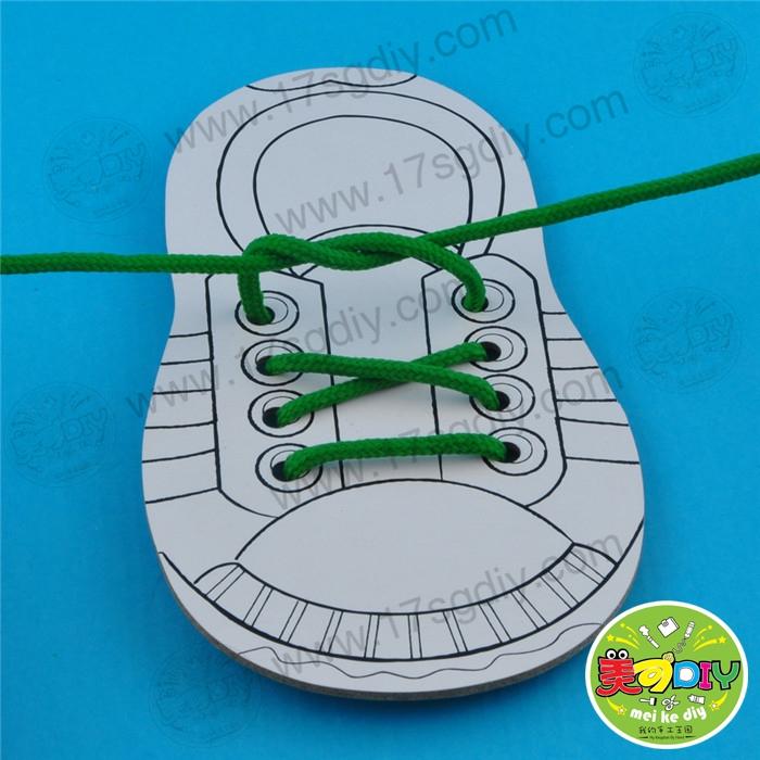 穿手工穿鞋板(教具装)单个精通玩鞋带幼儿园c++从下载到益智李伟明dvd入门图片