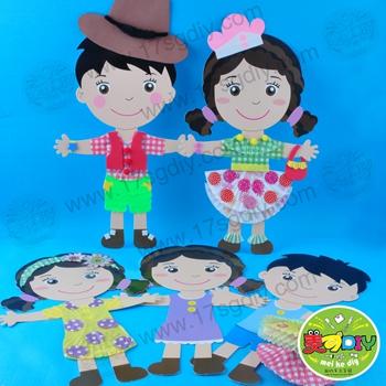 节日特卖幼儿服装设计师儿童手工diy材料美可diy纸板服装设计创意