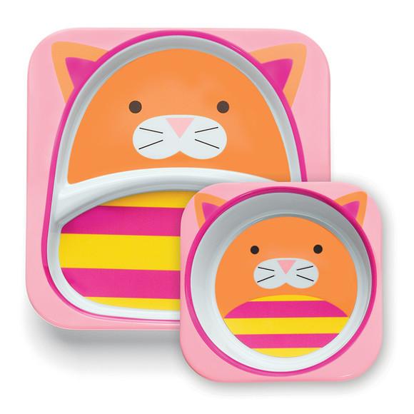 加意新品 美国skip hop可爱动物园餐具 幼儿餐碟 儿童