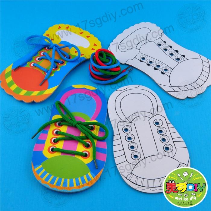 幼儿园穿鞋步骤图