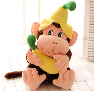 创意女朋友生日礼物 香蕉猴子猩猩毛绒玩具卡通小猴子
