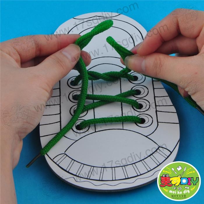 穿单个穿鞋板(技巧装)鞋带益智玩教具幼儿园夺宝斗地主小手工图片